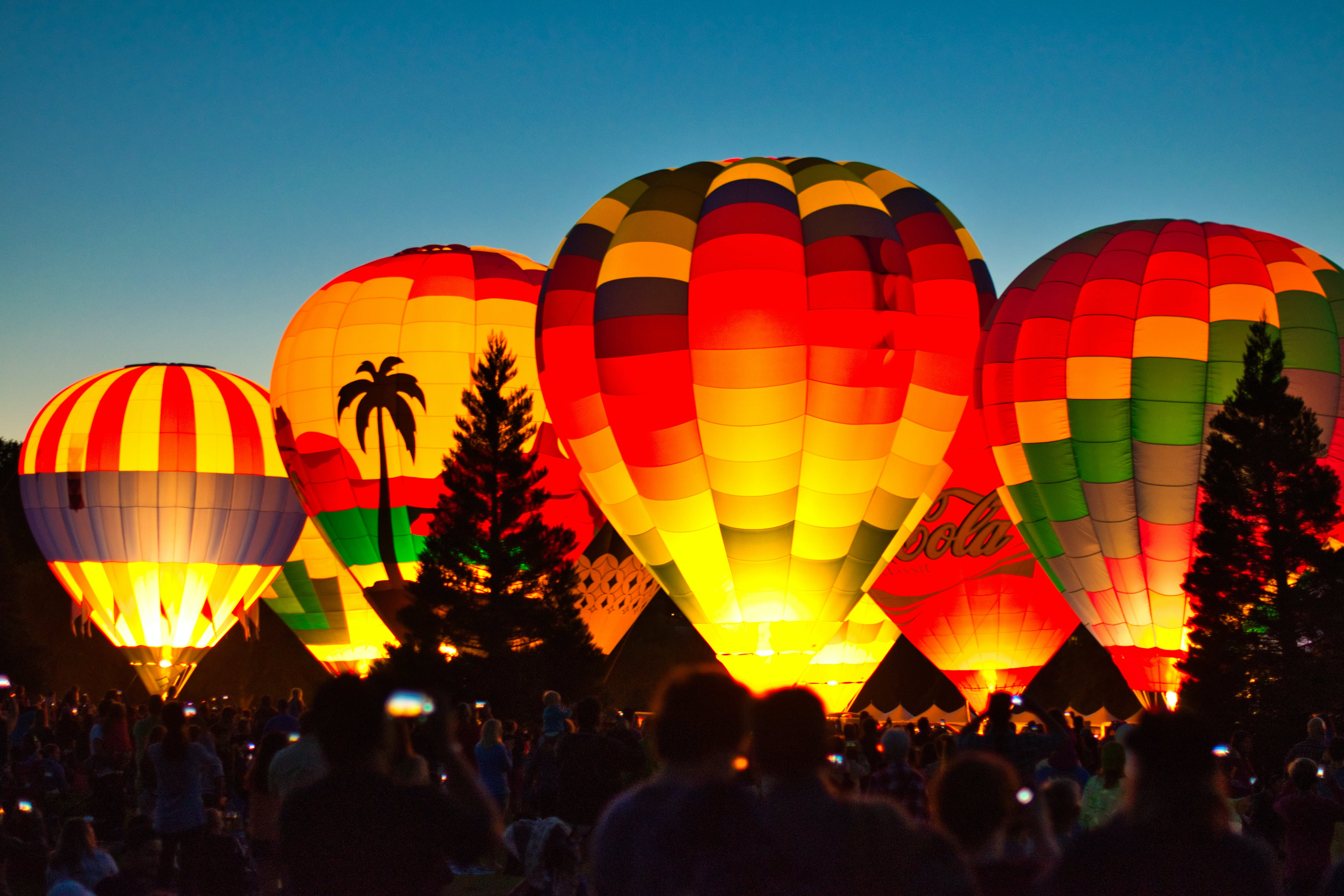 Assorted-color of Hot Air Balloons