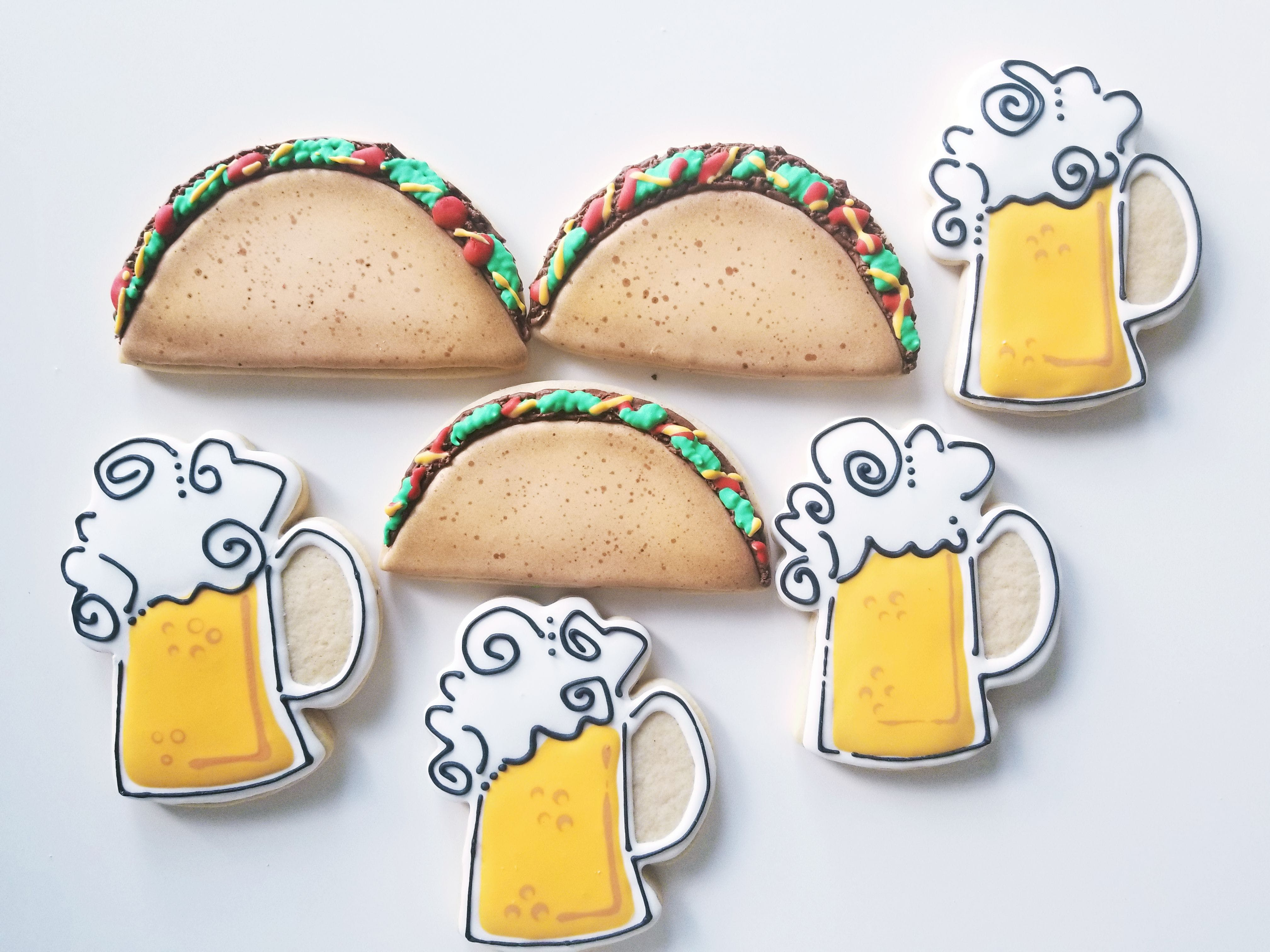 Taco and Mug With Beer Illustration
