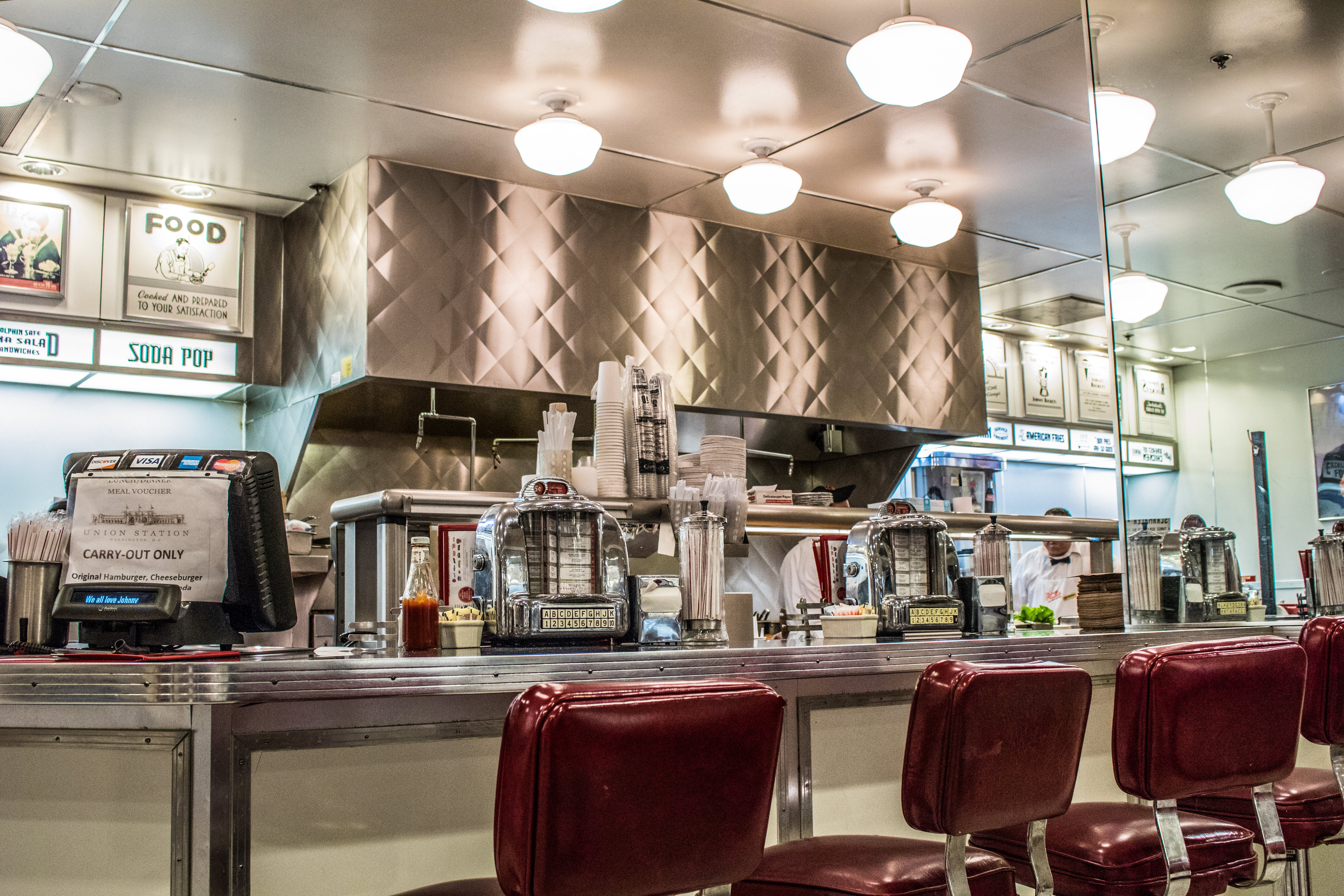 Free stock photo of 50's, diner, eating, happy days