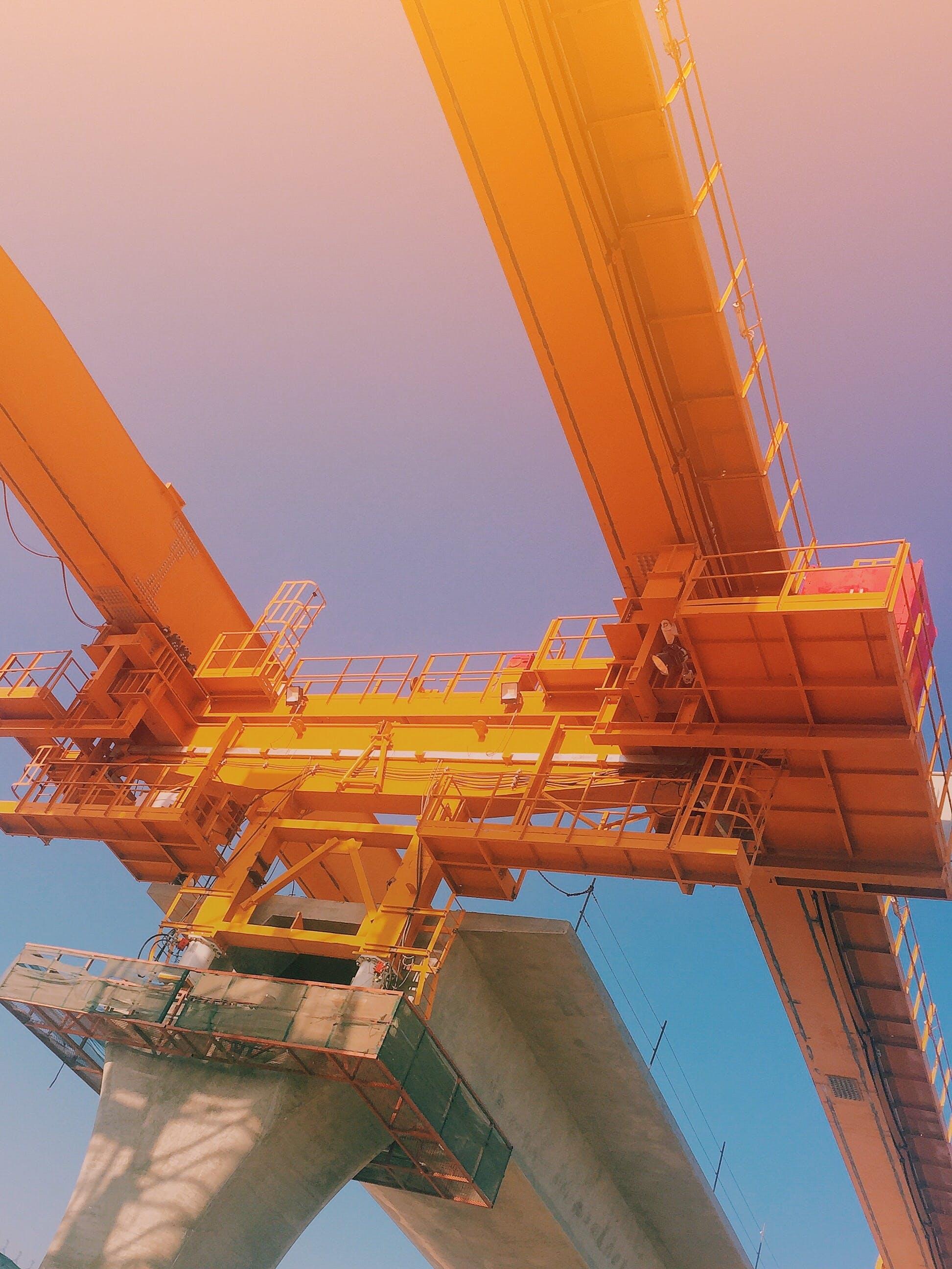 Free stock photo of build, construction, metro, orange