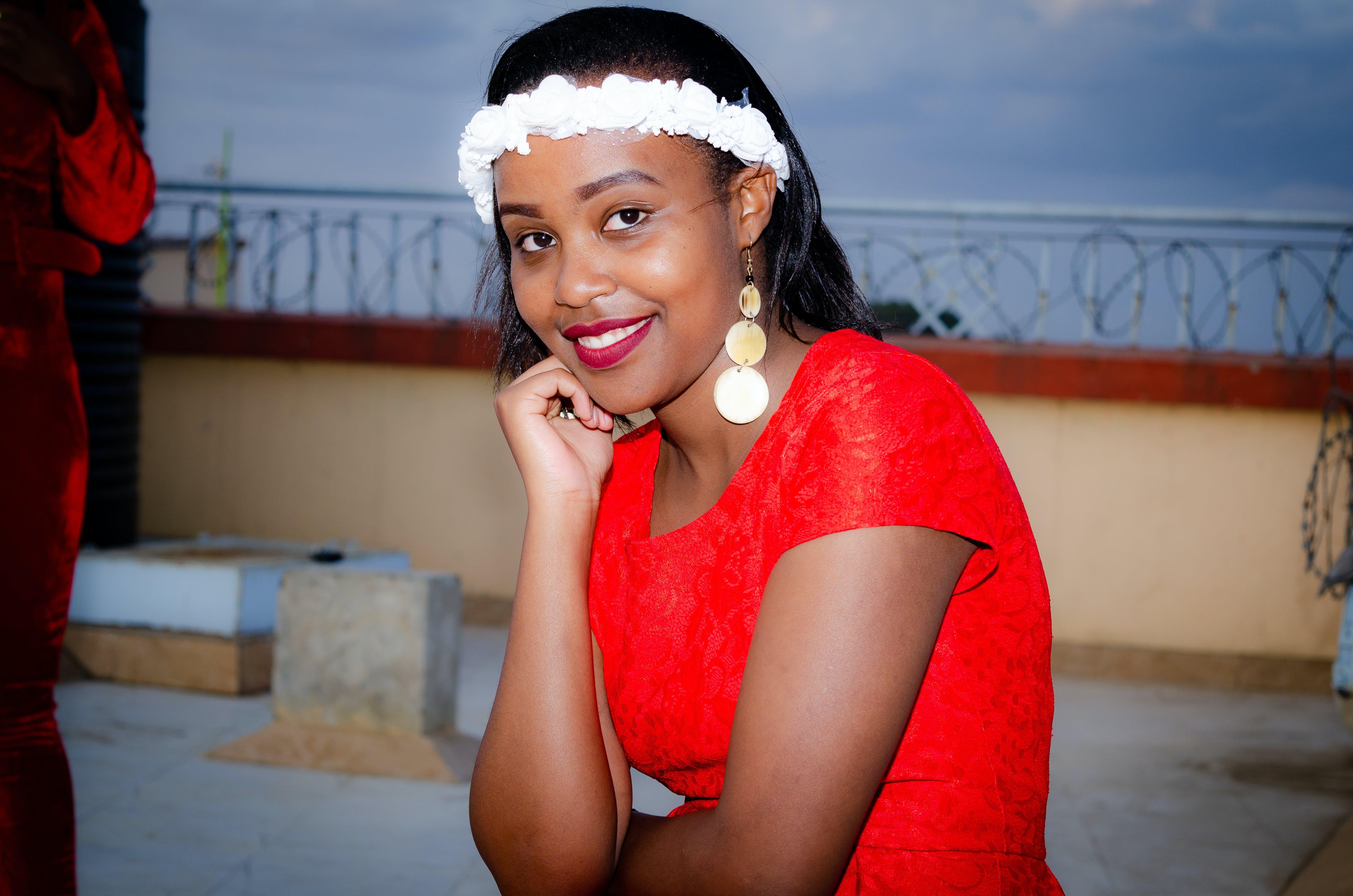 Free stock photo of lipstick, red dress