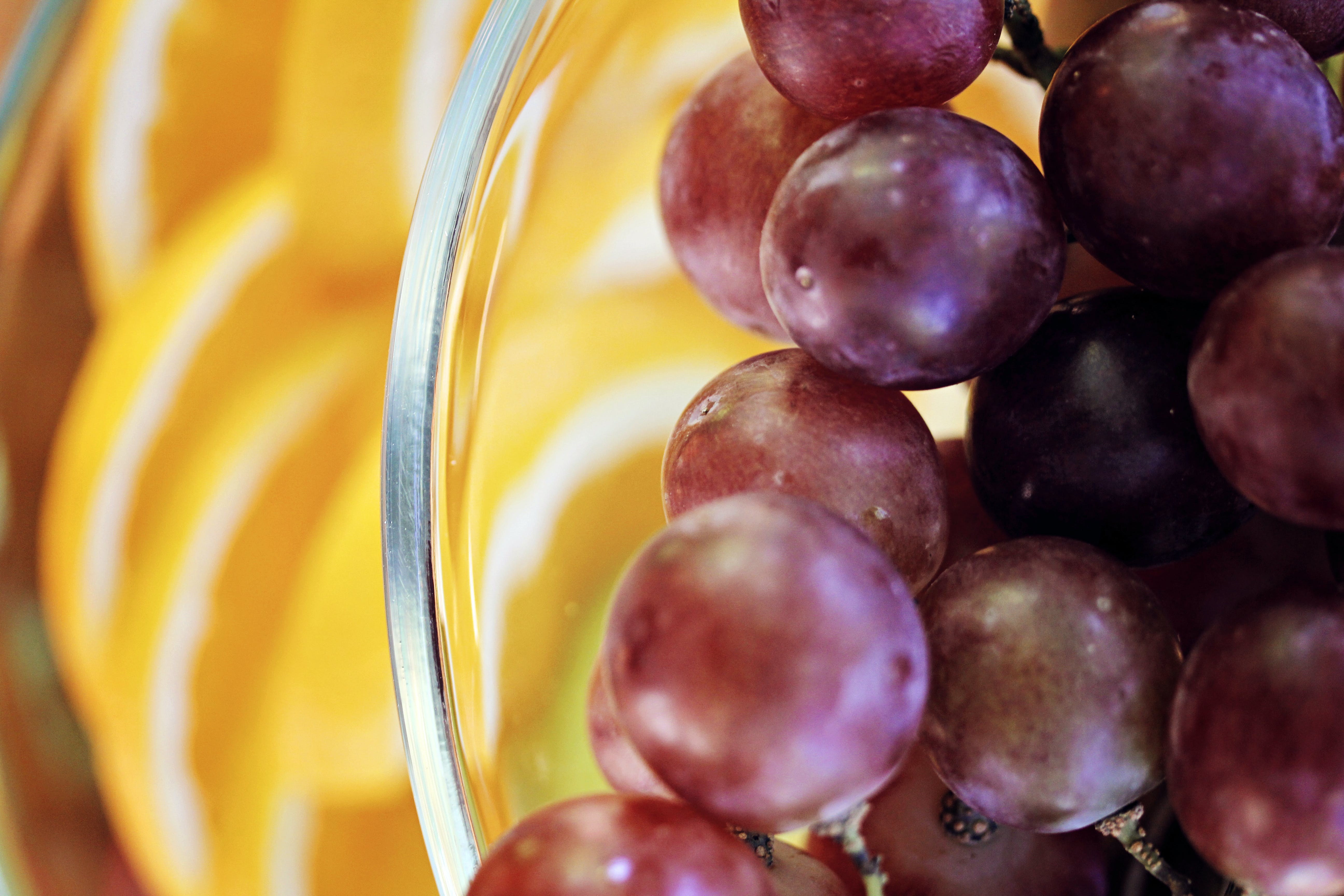 Free stock photo of bowl of fruit, grape, grapes, purple grapes