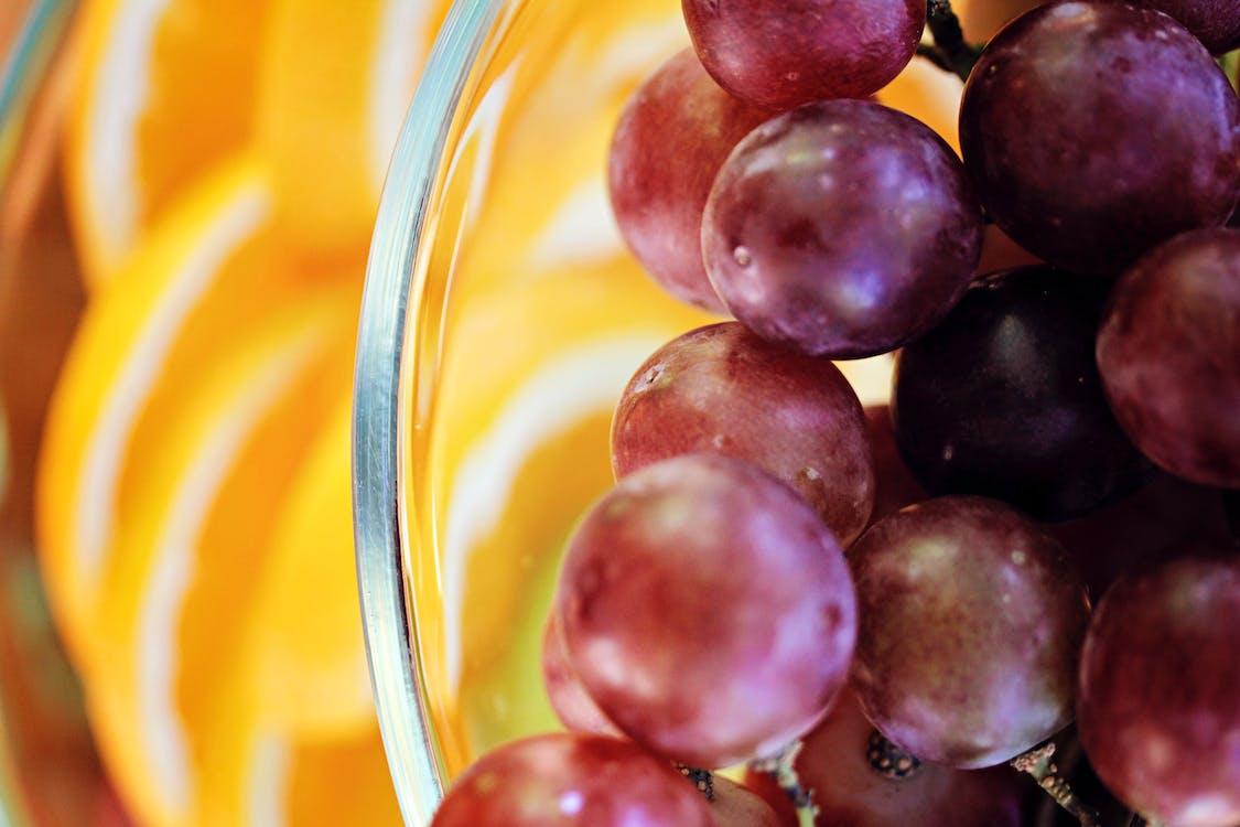 bowl of fruit, grape, grapes
