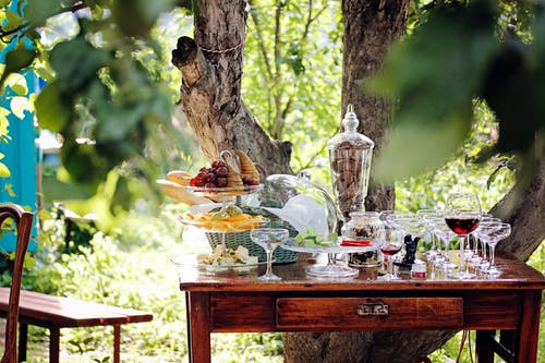 과일 그릇, 덩굴, 붉은 포도 나무, 빵의 무료 스톡 사진