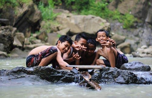 çağlayan, çocuklar, Endonezya, indo içeren Ücretsiz stok fotoğraf