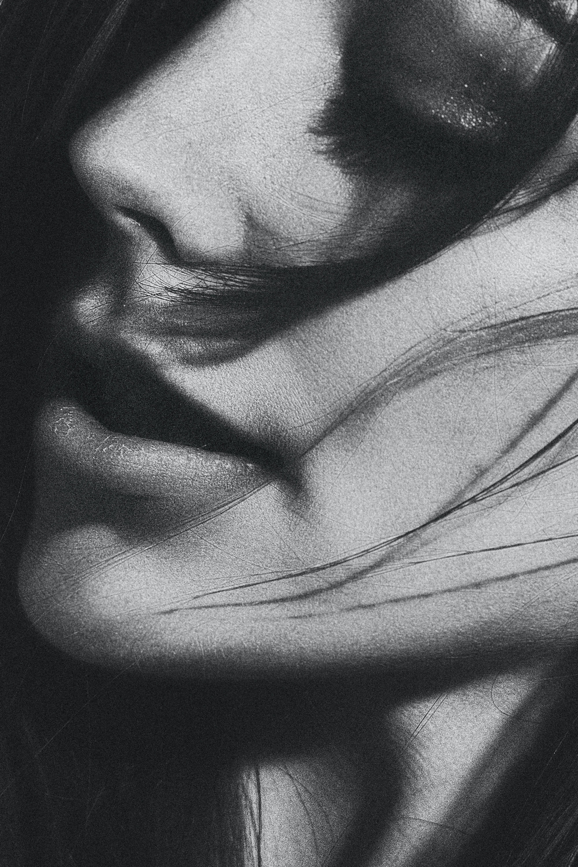 Free stock photo of black-and-white, girl, portrait, studio
