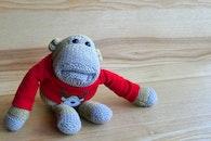 cute, monkey, toy