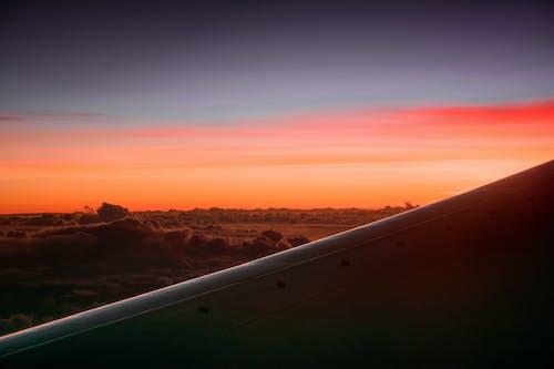 Vista Panorámica De Los Cielos Durante El Amanecer