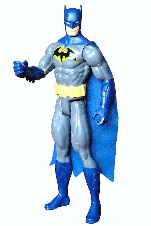 Gratis stockfoto met actiefiguur, batman speelgoed, blauw, grappig