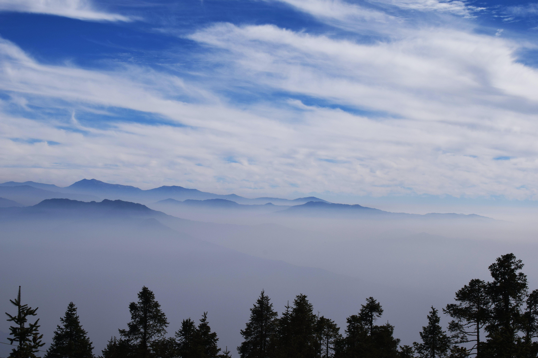 Free stock photo of blue, far, fog, foggy