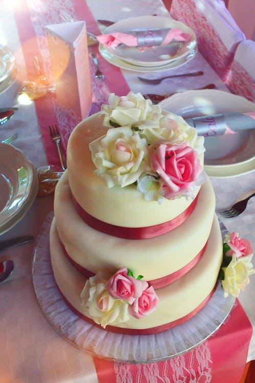 biały, ciasta, ciasto