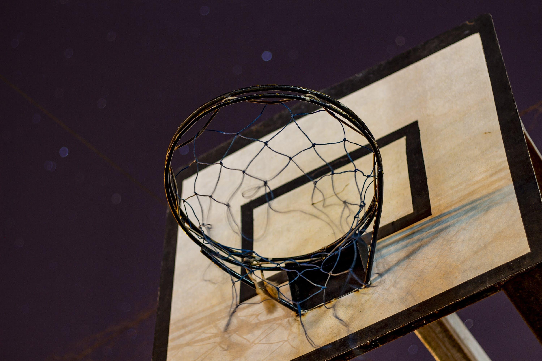 Black and Grey Basketball Hoop