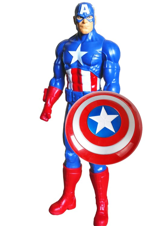 Free stock photo of action figure, america, blue
