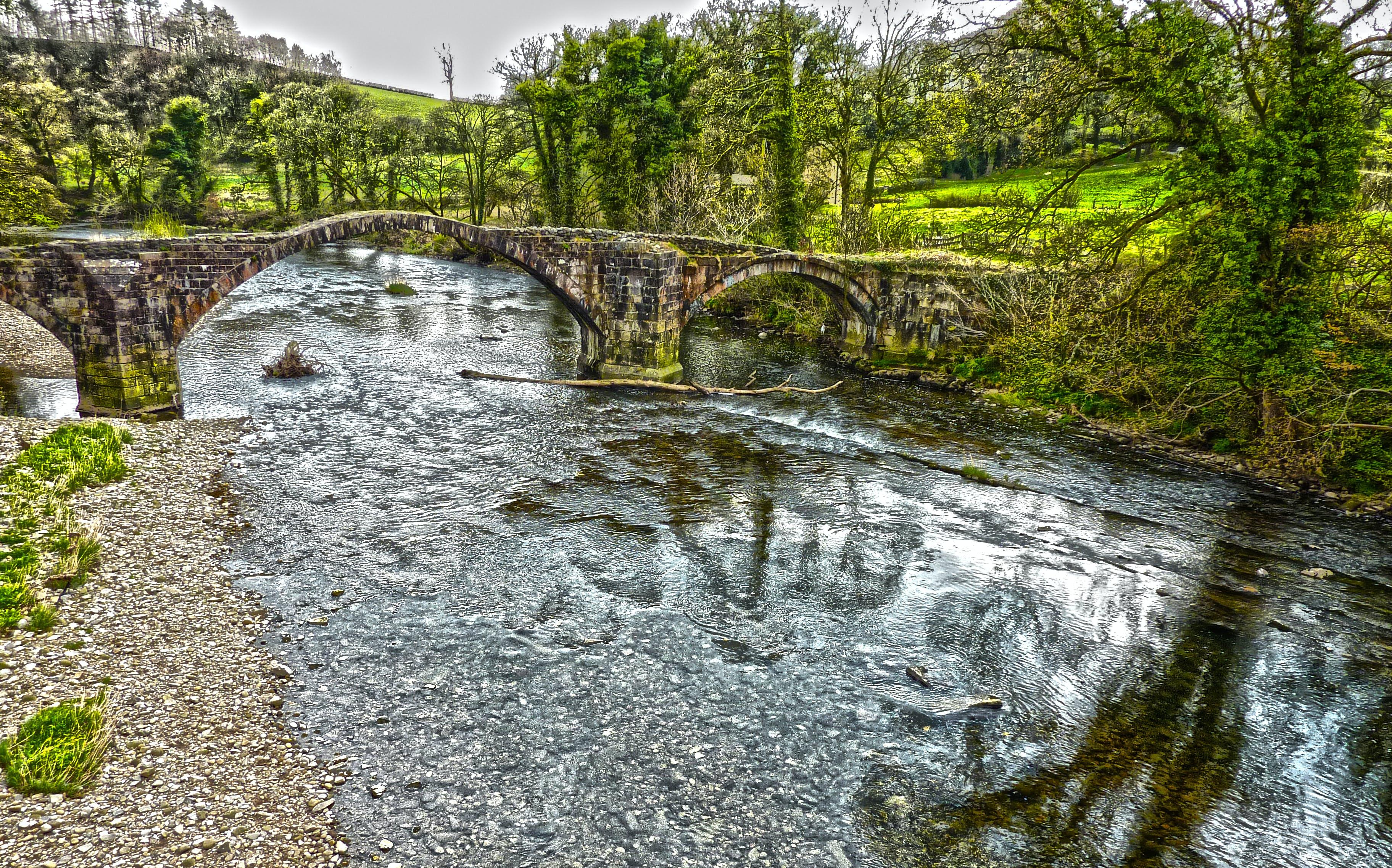 Free stock photo of river hodder