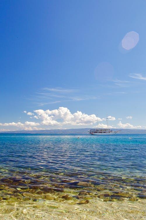 Free stock photo of adriatic sea, beach, blue sky, cloud