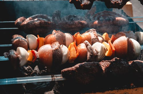 Free stock photo of barbecue, barbecue grill, beef, salad