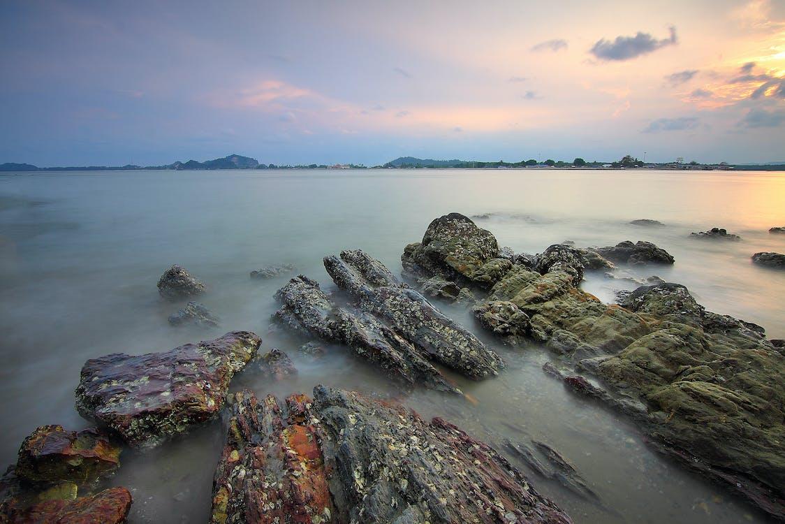 daggry, fjell, hav