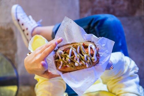 Foto stok gratis fast food, fotografi makanan, makanan, mayones