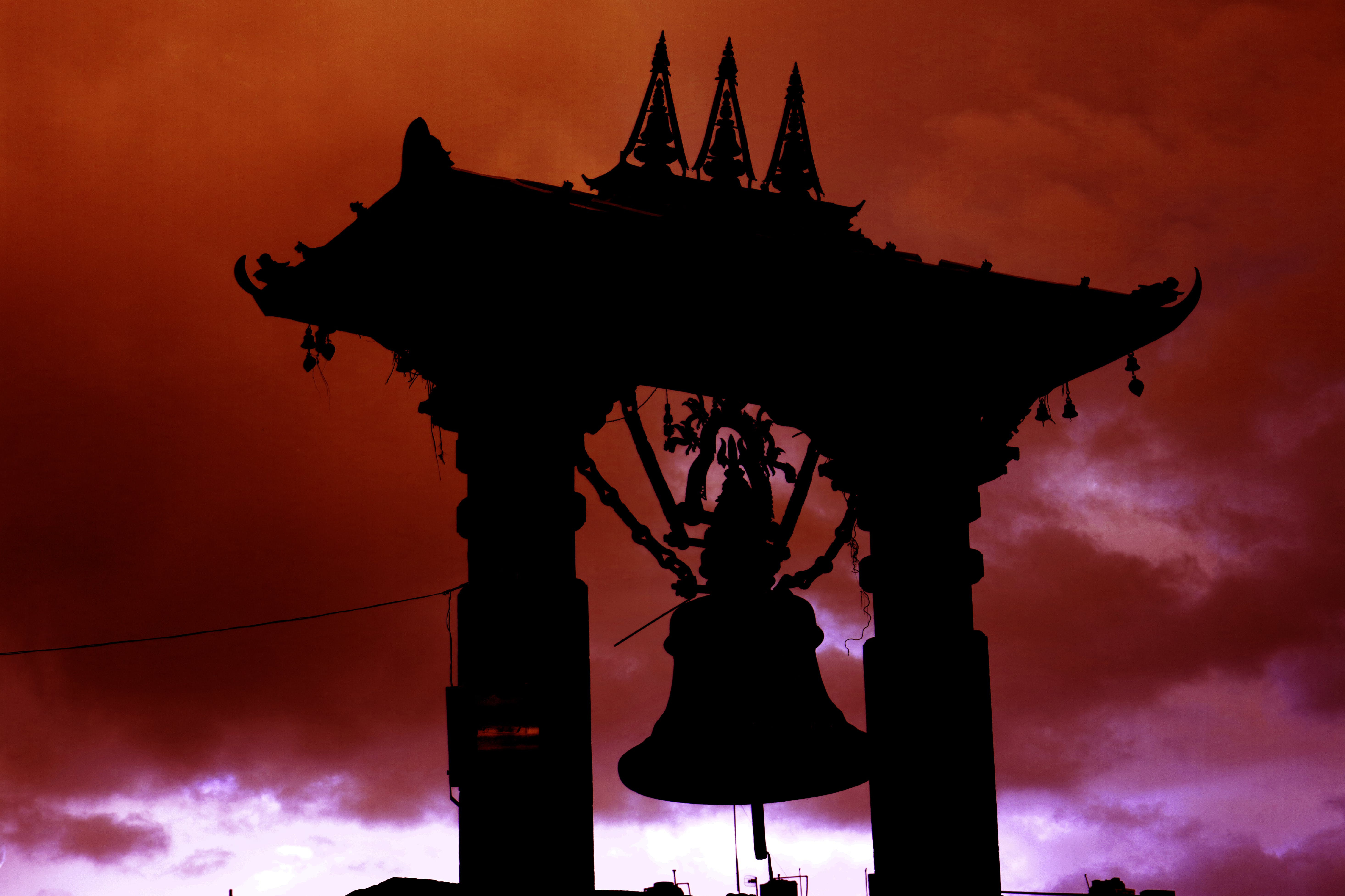Free stock photo of krishna mandir bell