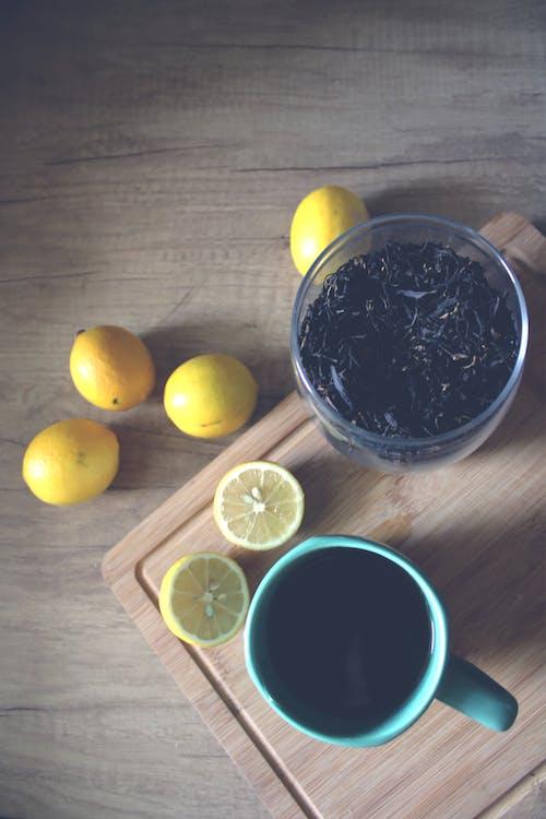 Fotobanka sbezplatnými fotkami na tému čaj, čaj hrnček, citrón, citrónový čaj