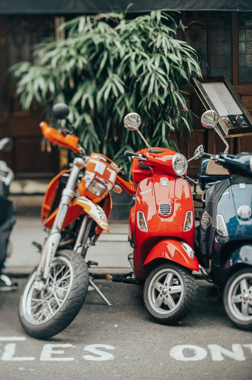 Selectieve Aandacht Fotografie Van Motorfietsen