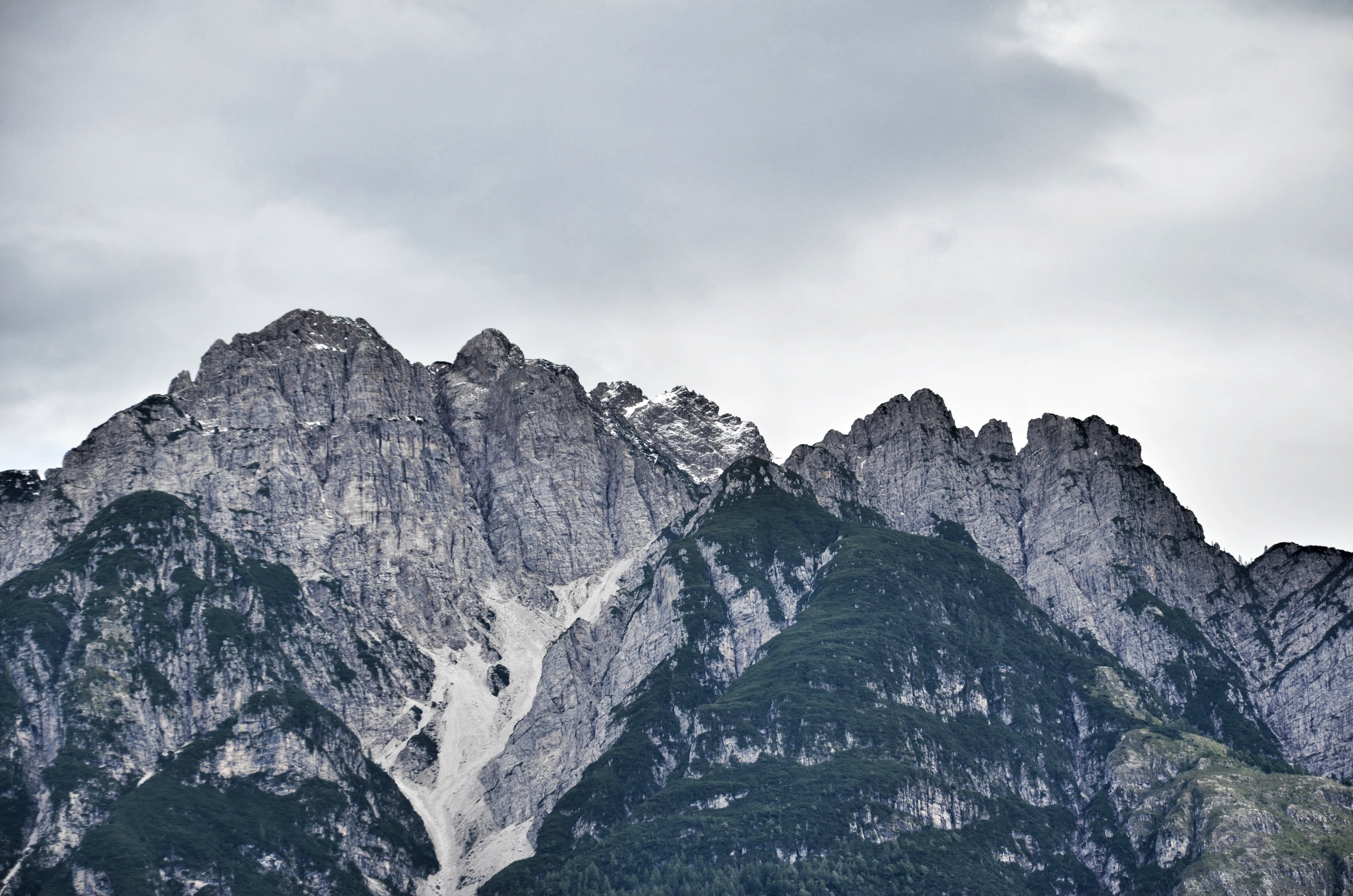 Landscape Photography of Mountain Under Gray Sky