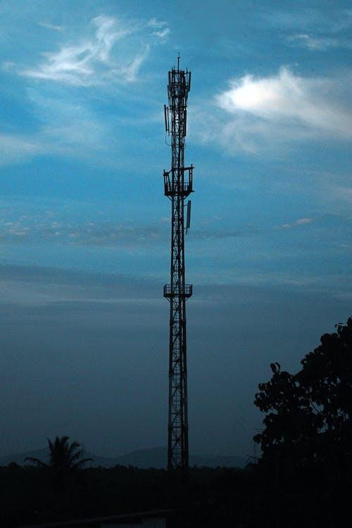 Kostnadsfri bild av blå himmel, nätverkstorn, torn