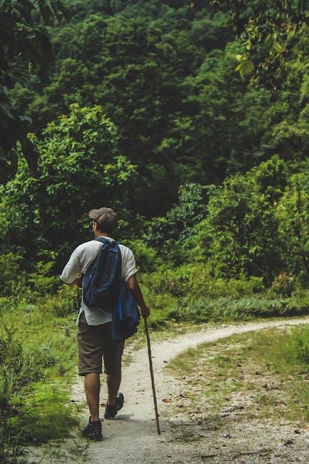 Man walking on trail