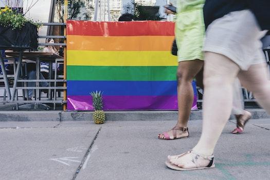Free stock photo of people, walking, sidewalk, pineapple