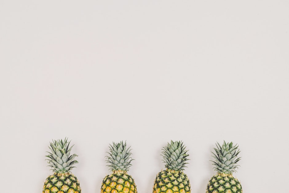 ananas, dekoration, essen