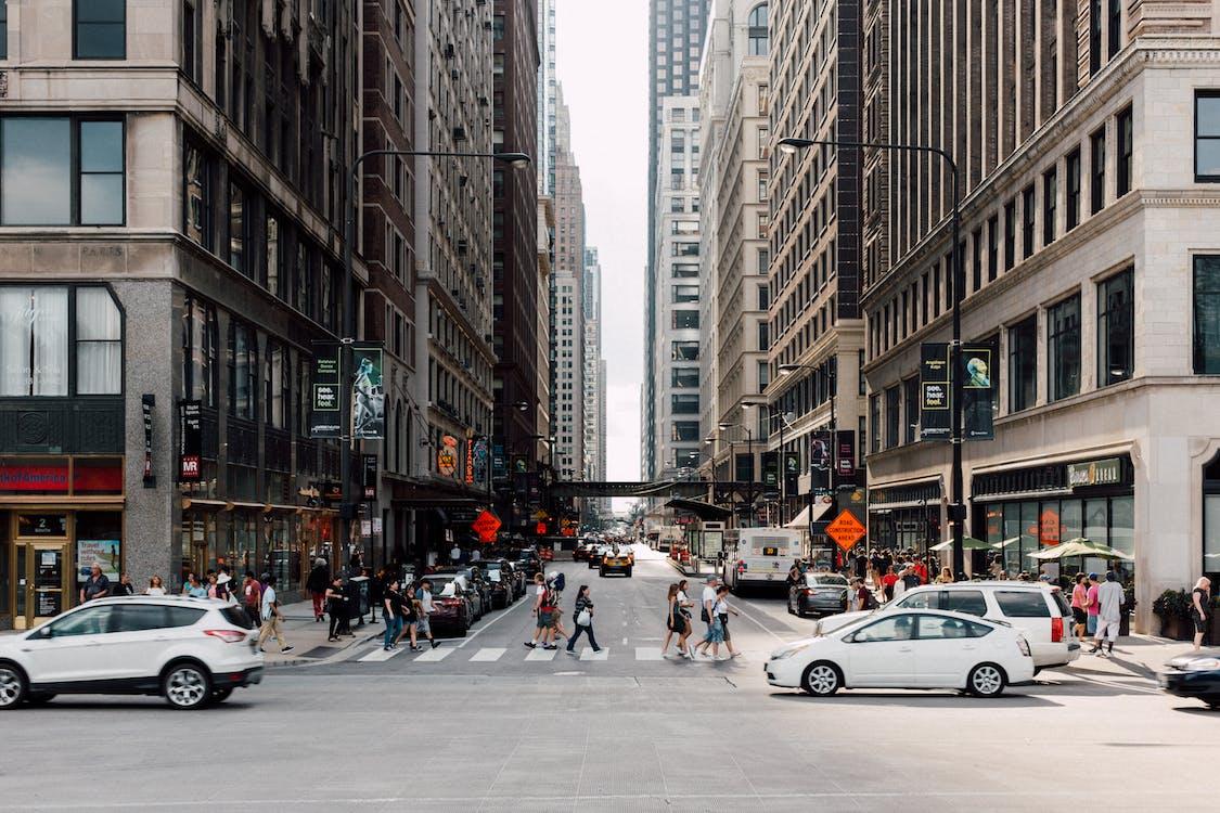 asfalt, caminant, carrer