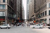 city, road, vehicles