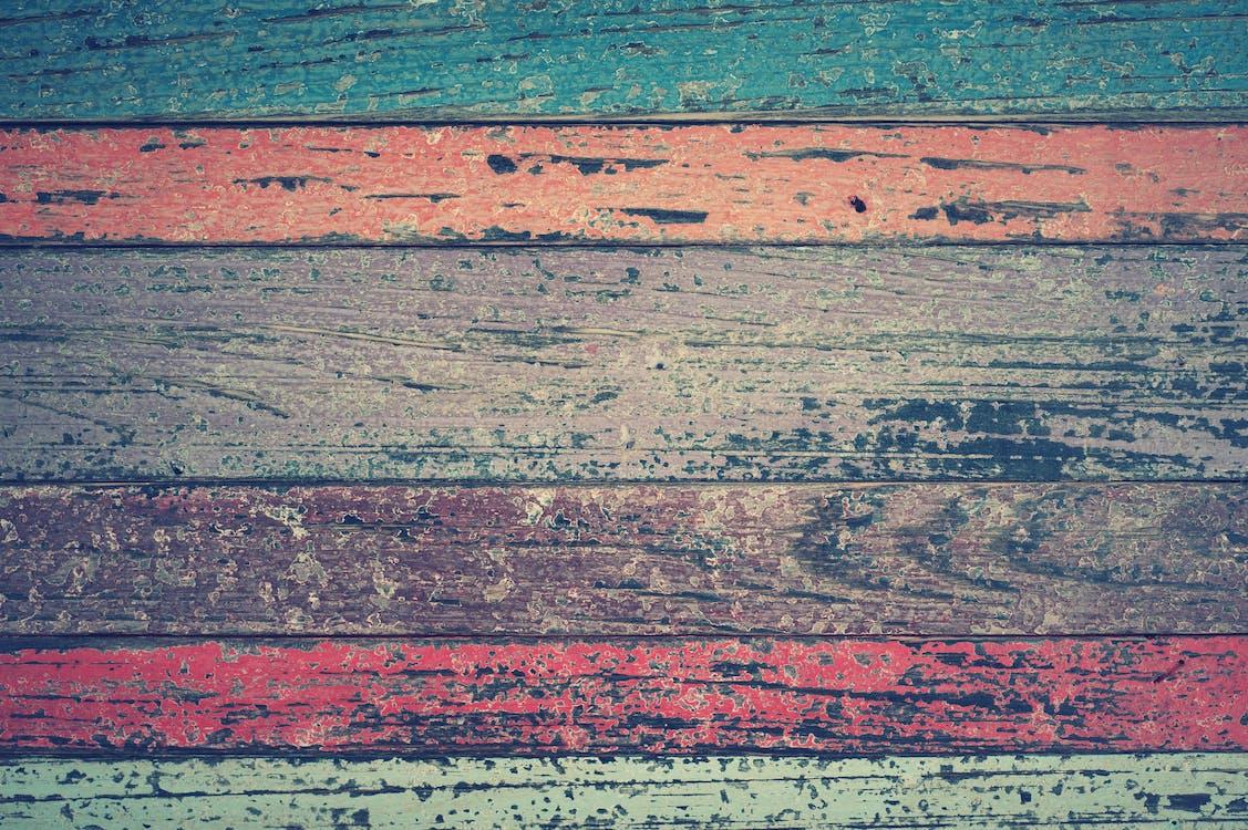 barevný, dřevěný, dřevo