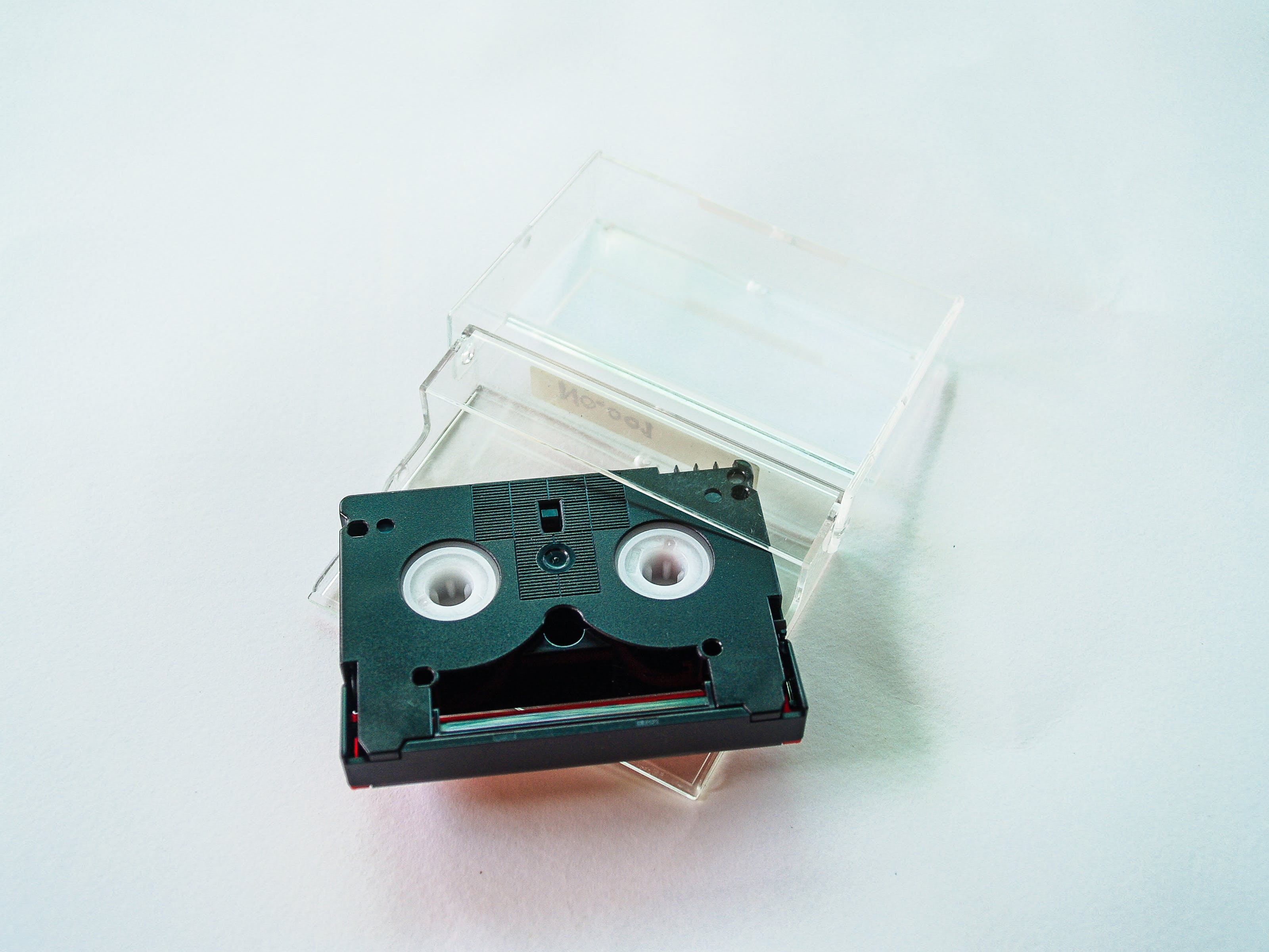 Black and Gray Cassette Tape With Case