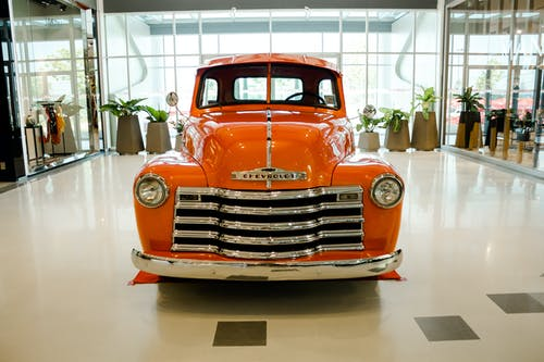 Classic Orange Chevrolet Car