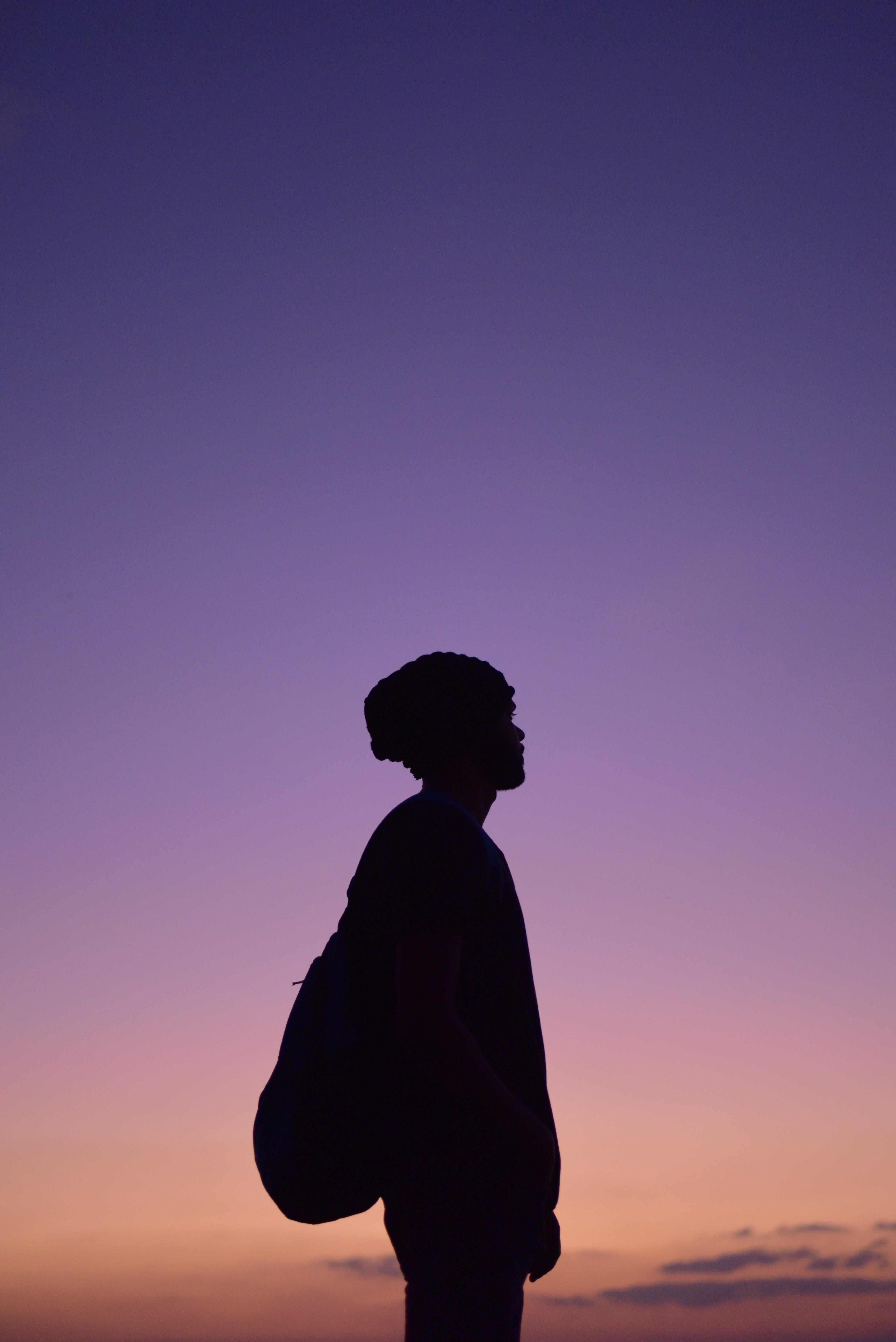 Silhouette Photo of Standing Man