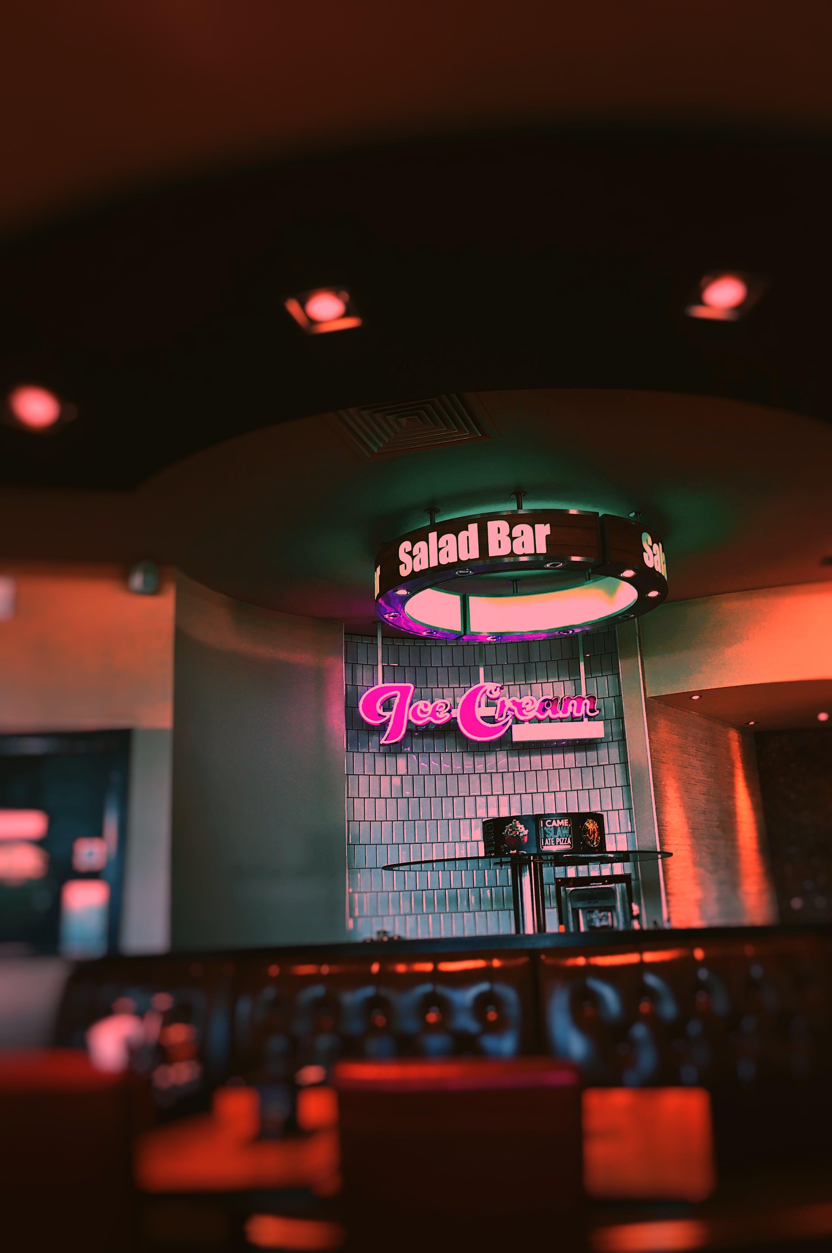 Ice Cream Neon Light Signage