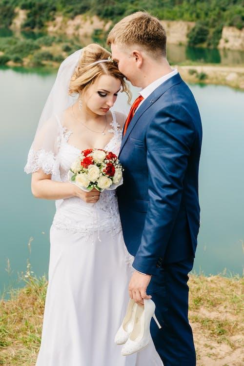 amour, bouquet, bouquet de mariée