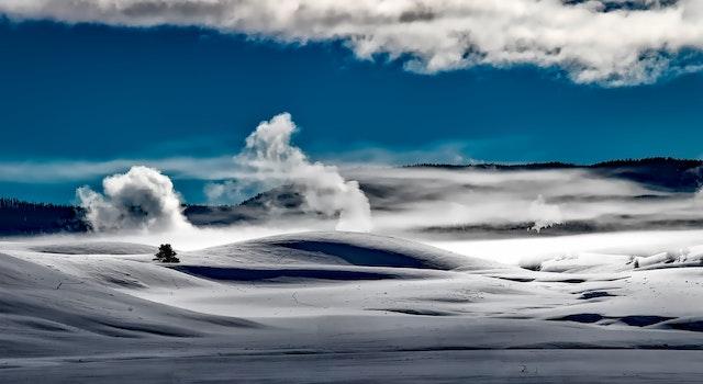 Gray Desert Under White and Blue Cloud Sunny Sky during Daytime