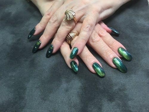 Immagine gratuita di halo unghie unghie blu verde