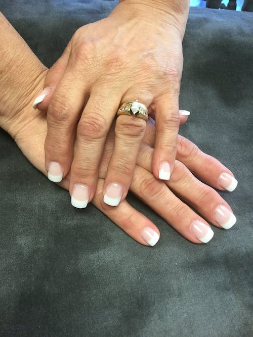 Gratis arkivbilde med #frenchmanicure #nails
