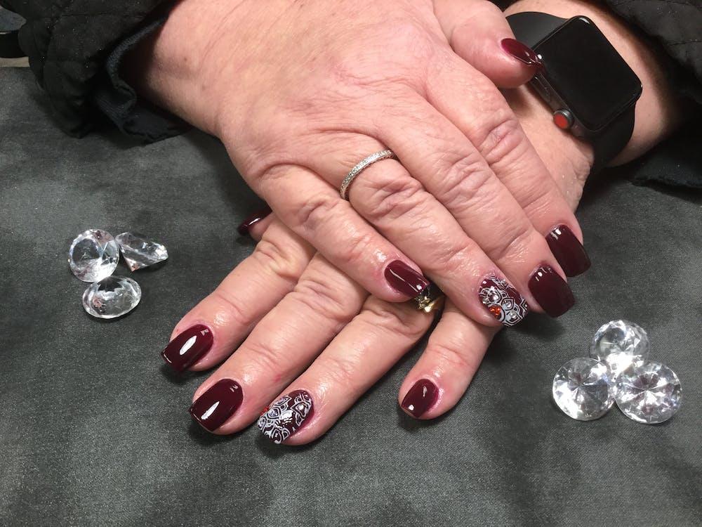 #nailstamping #darknails