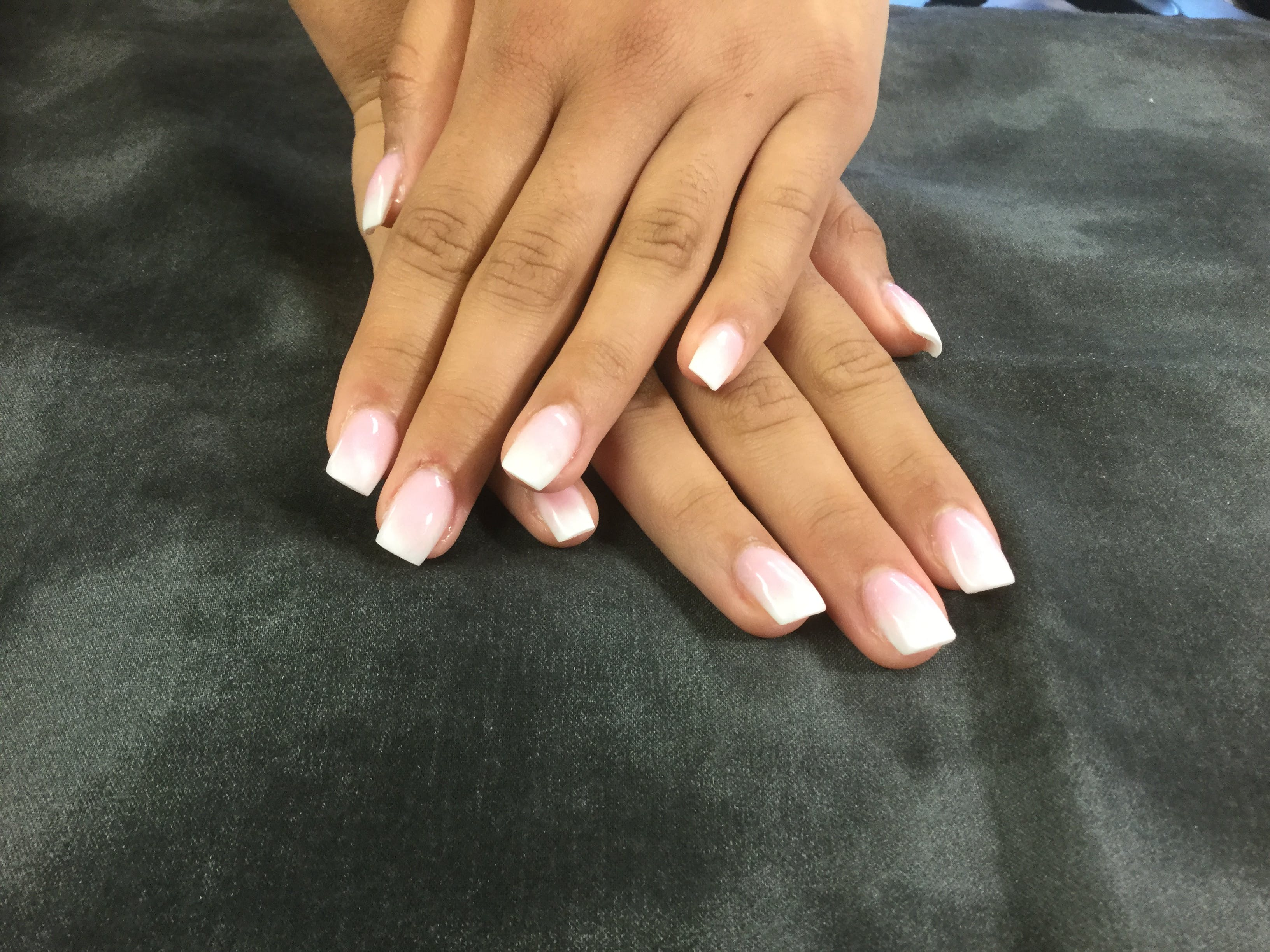 Free stock photo of #ombre French nails