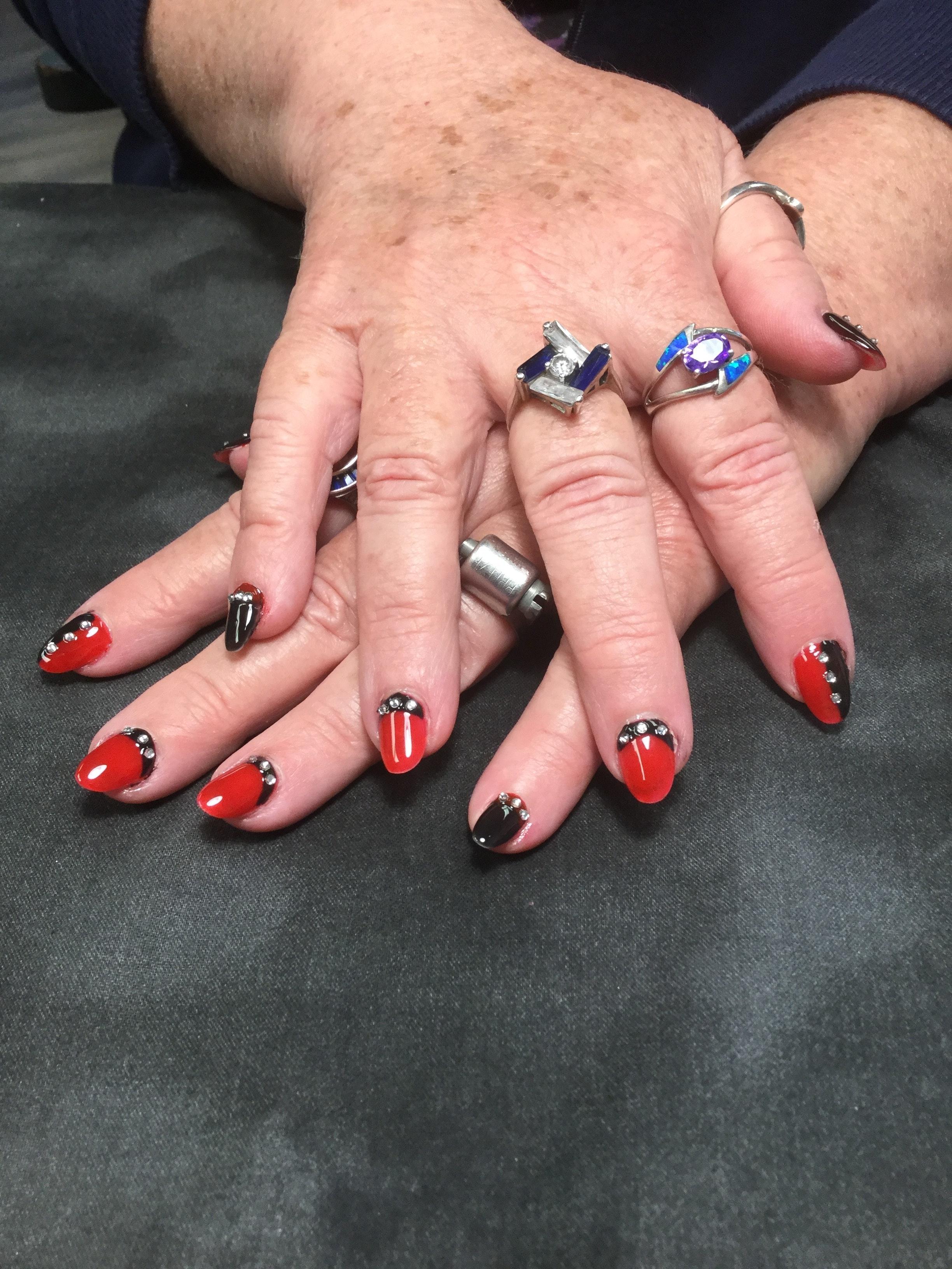 Free stock photo of Blacknrednails, Nails gel nails