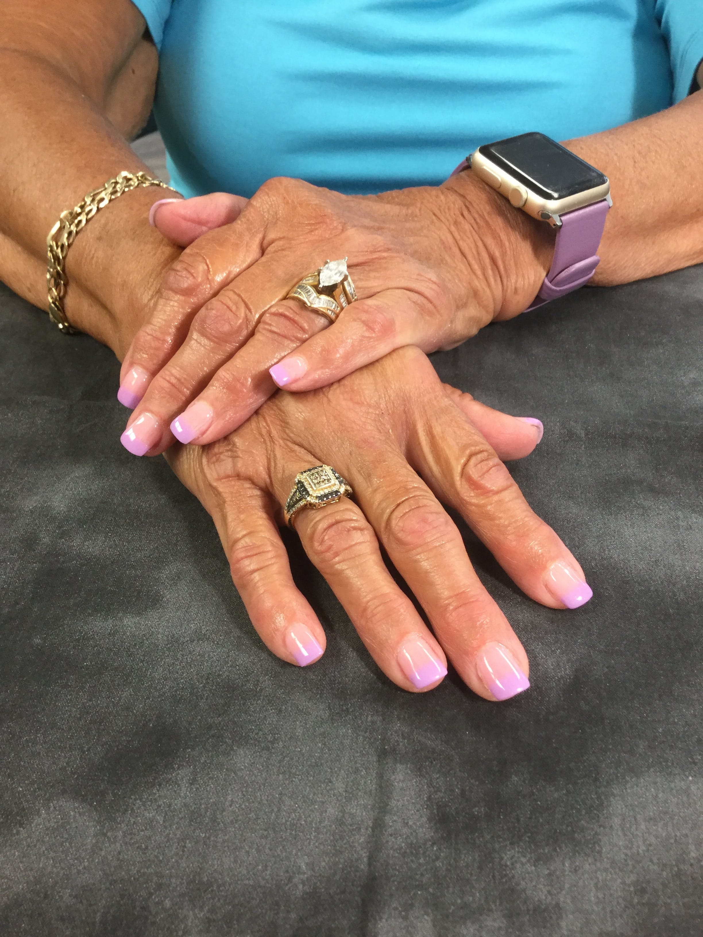 Free stock photo of Pastel French dip nails