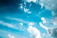 sky, clouds, high