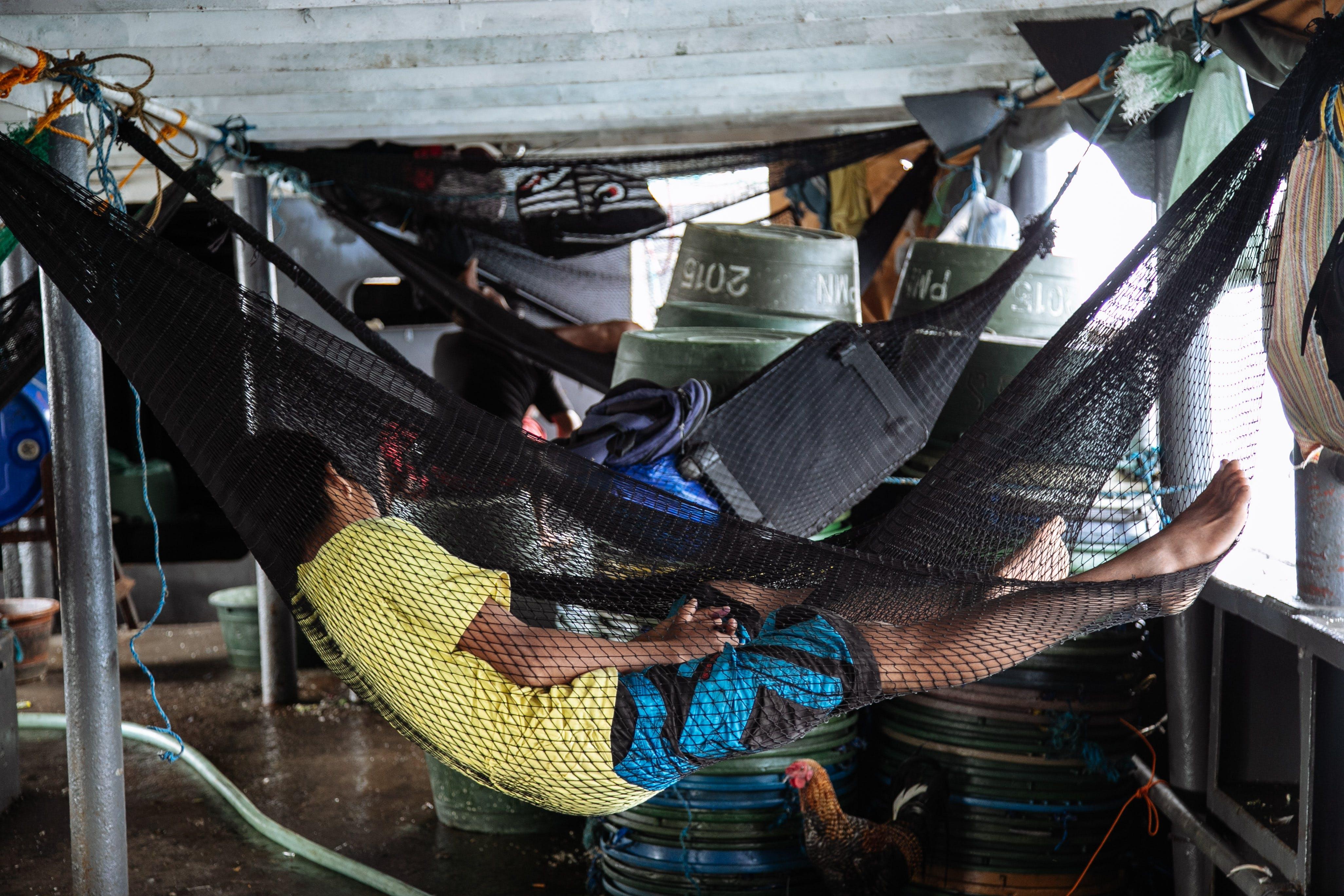 Free stock photo of fishermen, sleeping