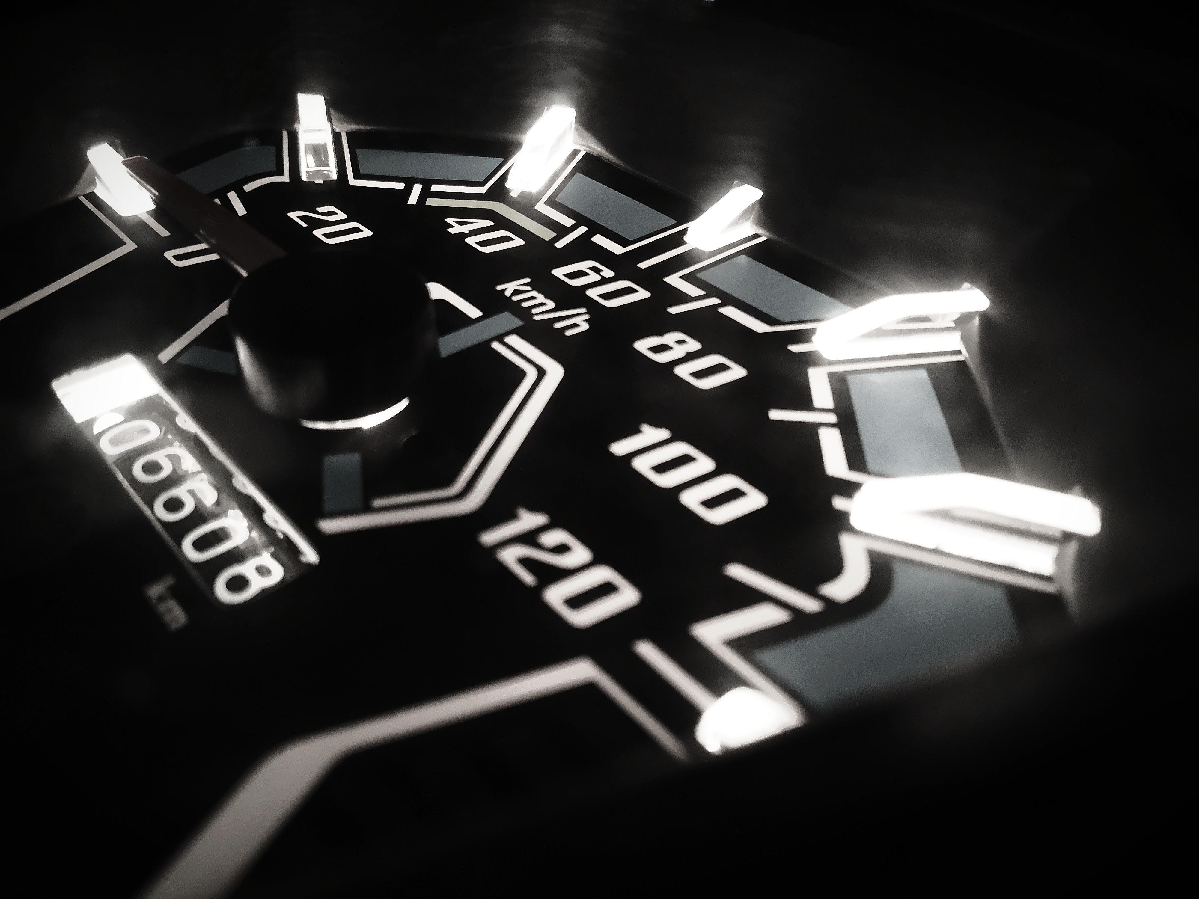 Closeup Photo of Analog Speedometer