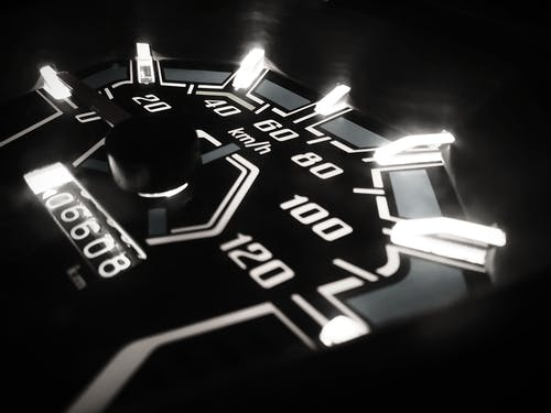 Closeup Photo of Analog Speedometer