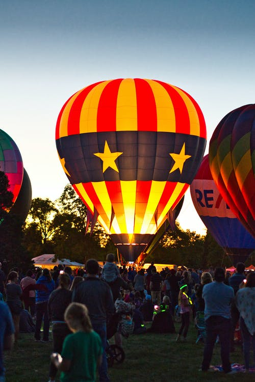 Group of Person in Hot Air Balloon Event